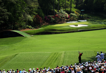 Quiros, Stanley and Cantlay will have to compete with Tiger Woods and the famous 12th hole (above) in the 2012 Masters.