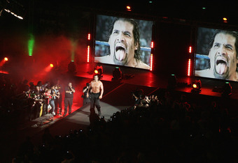 SYDNEY, AUSTRALIA - JUNE 15:  The Great Khali enters the Arena during WWE Smackdown at Acer Arena on June 15, 2008 in Sydney, Australia.  (Photo by Gaye Gerard/Getty Images)