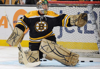 Marty Turco won his second game in a row as a Boston Bruin, making 19 saves on 22 shots.