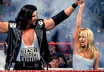 WrestleMania 11, Diesel dislocates Pam Anderson's arm