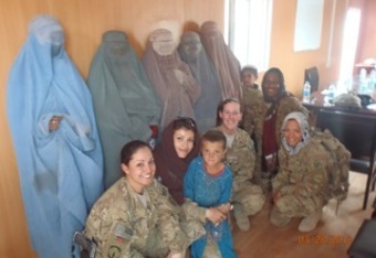 Varinka Ensminger (far right) is a member of the KY Army National Guard stationed in Afghanistan