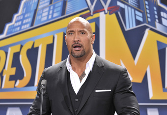 EAST RUTHERFORD, NJ - FEBRUARY 16: Dwayne 'The Rock' Johnson attends a press conference to announce that MetLife Stadium will host WWE Wrestlemania 29 in 2013 at MetLife Stadium on February 16, 2012 in East Rutherford, New Jersey. (Photo by Michael N. Tod