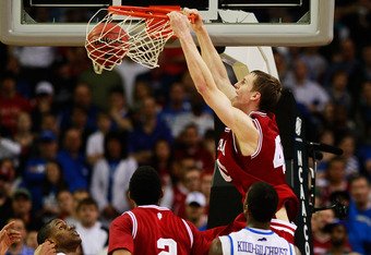 ATLANTA, GA - MARCH 23:  Cody Zeller #40 of the Indiana Hoosiers dunks against the Kentucky Wildcats during the 2012 NCAA Men's Basketball South Regional Semifinal game at the Georgia Dome on March 23, 2012 in Atlanta, Georgia.  (Photo by Kevin C. Cox/Get