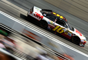 BRISTOL, TN - MARCH 18:  Greg Biffle, driver of the #16 3M/811 Ford, races during the NASCAR Sprint Cup Series Food City 500 at Bristol Motor Speedway on March 18, 2012 in Bristol, Tennessee.  (Photo by Jared C. Tilton/Getty Images)