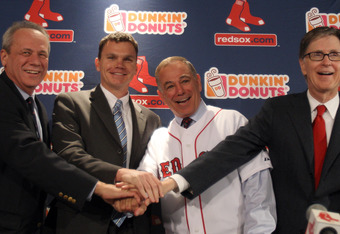 While they may look happy here, it's not all smiles in the Sox front office