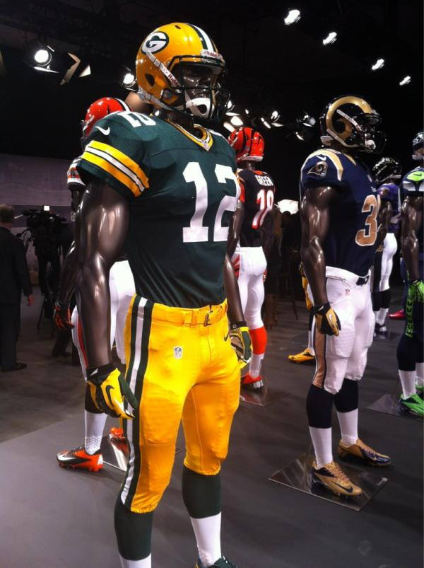 nike nfl uniforms new nfc north jerseys look like the old