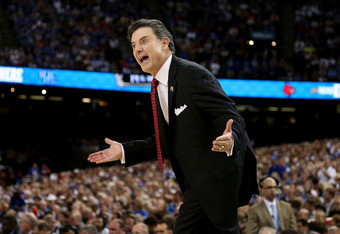 Always intense, Rick Pitino's motivation brought the Cards up.