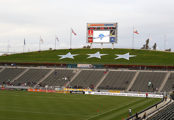CARSON, CA - MARCH 31:  A view of the interior of the Home Depot Center before the Los Angeles Galaxy take on the New England Revolution in an MLS match at The Home Depot Center on March 31, 2012 in Carson, California.  (Photo by Joe Scarnici/Getty Images