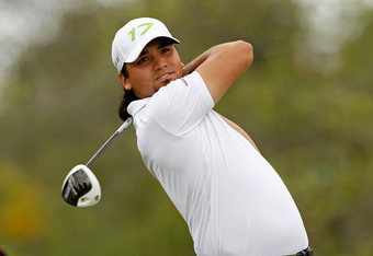 MIAMI, FL - MARCH 08:  Jason Day of Australia hits his tee shot on the fifth hole during the first round of the 2012 World Golf Championships Cadillac Championship at Doral Golf Resort And Spa on March 8, 2012 in Miami, Florida.  (Photo by Mike Ehrmann/Ge