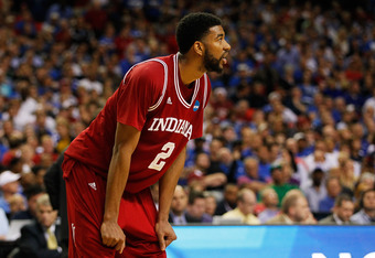 ATLANTA, GA - MARCH 23:  Christian Watford #2 of the Indiana Hoosiers reacts against the Kentucky Wildcats during the 2012 NCAA Men's Basketball South Regional Semifinal game at the Georgia Dome on March 23, 2012 in Atlanta, Georgia.  (Photo by Kevin C. C