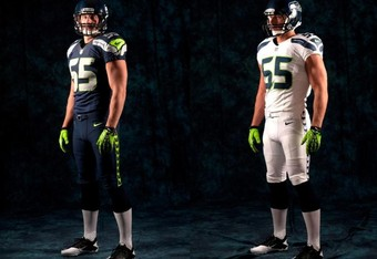 The new Seahawks home and road uniforms