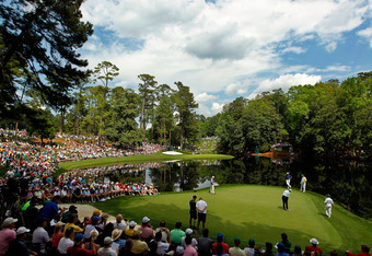 AUGUSTA, GA - APRIL 04:  A general view of the par three course is seen during the Par 3 Contest prior to the start of the 2012 Masters Tournament at Augusta National Golf Club on April 4, 2012 in Augusta, Georgia.  (Photo by Streeter Lecka/Getty Images)