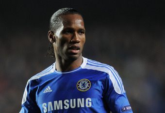 LONDON, ENGLAND - MARCH 14:  Didier Drogba of Chelsea looks on during the UEFA Champions League Round of 16 second leg match between Chelsea FC and SSC Napoli at Stamford Bridge on March 14, 2012 in London, England.  (Photo by Michael Regan/Getty Images)