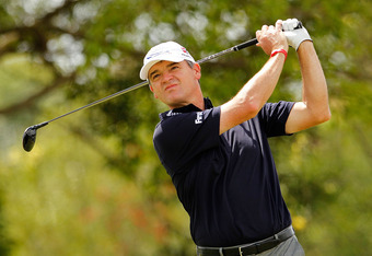 MIAMI, FL - MARCH 09:  Paul Lawrie of Scotland hits his tee shot on the fifth hole during the second round of the 2012 World Golf Championships Cadillac Championship at Doral Golf Resort And Spa on March 9, 2012 in Miami, Florida.  (Photo by Mike Ehrmann/