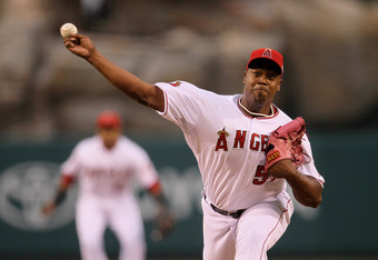 Jerome Williams went 4-0 with a 3.68 ERA in 10 games for the Angels in 2011.