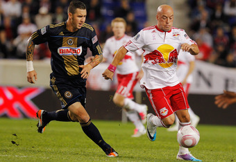 Luke Rodgers (right) was an impact player for New York last season, and the Red Bulls did well to replace him with Kenny Cooper before the news of his visa denial.