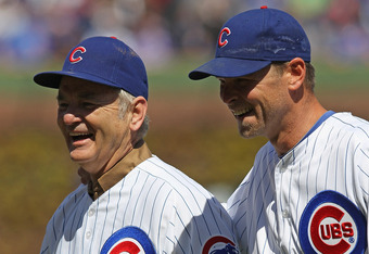 Actor Bill Murray threw out the first pitch for the Cubs' home opener.