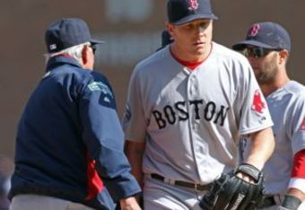 Melancon gets a quick hook on Opening Day. Photo by Matt Stone bostonherald.com