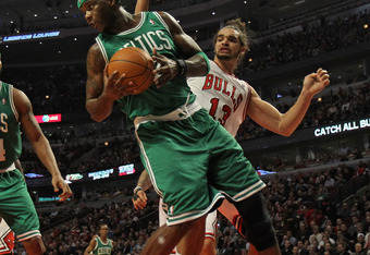 The injury to Jermaine O'Neal has been a contributing factor to the Celtics' rebounding woes
