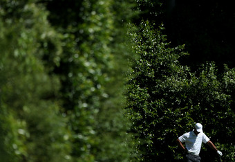 AUGUSTA, GA - APRIL 07:  Tiger Woods of the United States looks on from the fifth tee during the third round of the 2012 Masters Tournament at Augusta National Golf Club on April 7, 2012 in Augusta, Georgia.  (Photo by Andrew Redington/Getty Images)
