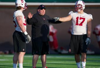 ILBs Jarek Lancaster (35) and A.J. Tarpley (17) (Photo by Stanford Football)