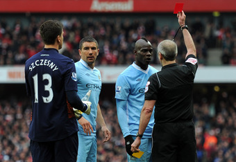 Balotelli dismissed after second caution
