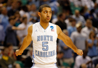 GREENSBORO, NC - MARCH 18:  Kendall Marshall #5 of the North Carolina Tar Heels prepares to play against the Creighton Bluejays in the third round of the 2012 NCAA Men's Basketball Tournament at Greensboro Coliseum on March 18, 2012 in Greensboro, North C