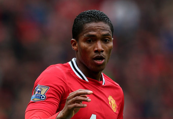 MANCHESTER, ENGLAND - APRIL 08:  Antonio Valencia of Manchester United in action during the Barclays Premier League match between Manchester United and Queens Park Rangers at Old Trafford on April 8, 2012 in Manchester, England.  (Photo by Alex Livesey/Ge