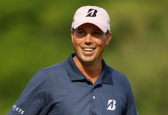 AUGUSTA, GA - APRIL 08:  Matt Kuchar of the United States smiles on the 11th fairway during the final round of the 2012 Masters Tournament at Augusta National Golf Club on April 8, 2012 in Augusta, Georgia.  (Photo by Streeter Lecka/Getty Images)