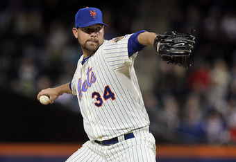 Mike Pelfrey's season debut Monday night was just good enough. That might be enough to satisfy the Mets in 2012.