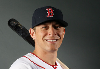 FORT MYERS, FL - FEBRUARY 26:  Ryan Sweeney #12 of the Boston Red Sox poses for a portrait on February 26, 2012 at jetBlue Park in Fort Myers, Florida.  (Photo by Elsa/Getty Images)