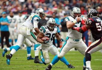 Jonathan Stewart and DeAngelo Williams team up for a potent ground attack.