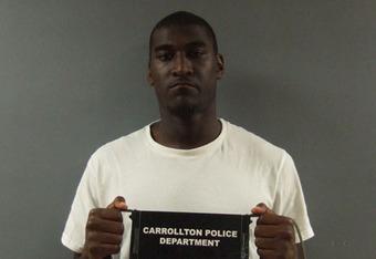 Justin Blackmon's arraignment photo