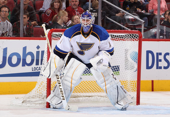 Goalie Brian Elliott had nine of St. Louis' 15 shutouts this season.