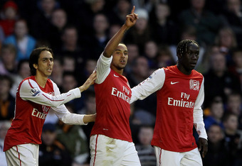 Sagna, right, was employed as a wingback.