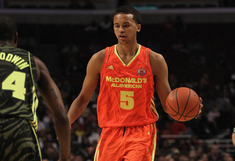 CHICAGO, IL - MARCH 28: Kyle Anderson #5 of the East team brings the ball up the court during the 2012 McDonald's All American Game at United Center on March 28, 2012 in Chicago, Illinois. (Photo by Jonathan Daniel/Getty Images)