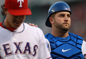 Through no fault of his own, Mike Napoli has caused the rivalry to grow in intensity lately...