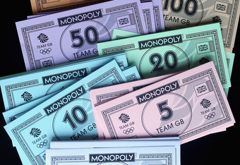 London 2012 Olympic Game Monopoly money is not an acceptable substitute.