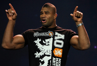 LAS VEGAS, NV - JANUARY 10:  UFC fighter Alistair 'The Reem' Overeem speaks during a presentation by Qualcomm at the 2012 International Consumer Electronics Show at The Venetian on January 10, 2012 in Las Vegas, Nevada. CES, the world's largest annual con
