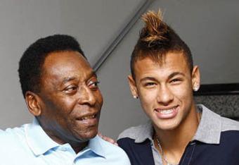 Pelé and Neymar