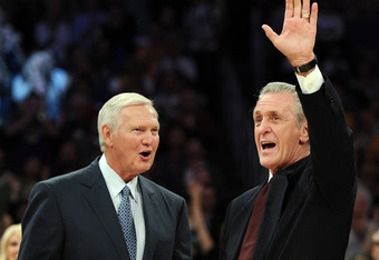 Jerry West and Pat Riley