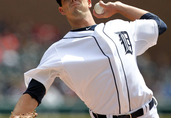 DETROIT, MI - APRIL 12:  Drew Smyly #33 of the Detroit Tigers pitches in his major league debut in the first inning during the game against the Tampa Bay Rays at Comerica Park on April 12, 2012 in Detroit, Michigan.  (Photo by Leon Halip/Getty Images)