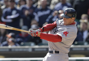 Who would have guessed that Boston's leading hitter would be Ryan Sweeney? AP photo.