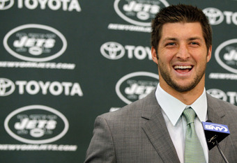 Tebow's excited, but if Sanchez falters, he'll be starting.