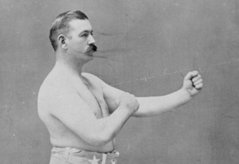 The last bare-knuckle champion John L. Sullivan. In his first fight under the Queensberry Rules, he was defeated by Jim Corbett due to Corbett's speed and boxing technique.