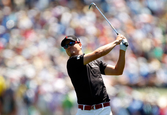 AUGUSTA, GA - APRIL 07:  Zach Johnson of the United States hits a shot on the first hole during the third round of the 2012 Masters Tournament at Augusta National Golf Club on April 7, 2012 in Augusta, Georgia.  (Photo by Streeter Lecka/Getty Images)