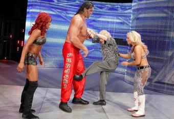 The Great Khali, Alicia Fox and Natalya
