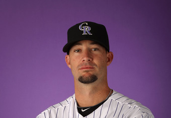 SCOTTSDALE, AZ - FEBRUARY 28:  Pitcher Josh Roenicke #30 of the Colorado Rockies poses for a portrait during spring training photo day at Salt River Fields at Talking Stick on February 28, 2012 in Scottsdale, Arizona.  (Photo by Christian Petersen/Getty I