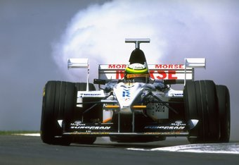 26 Apr 1998:  Ricardo Rosset cuts a corner in his Tyrrell as his engine blows during the San Marino Grand Prix at the Imola circuit in San Marino.  \ Mandatory Credit: Michael  Cooper/Allsport