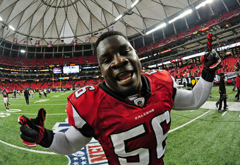 Falcons linebacker Sean Weatherspoon has never met a camera he didn't like.